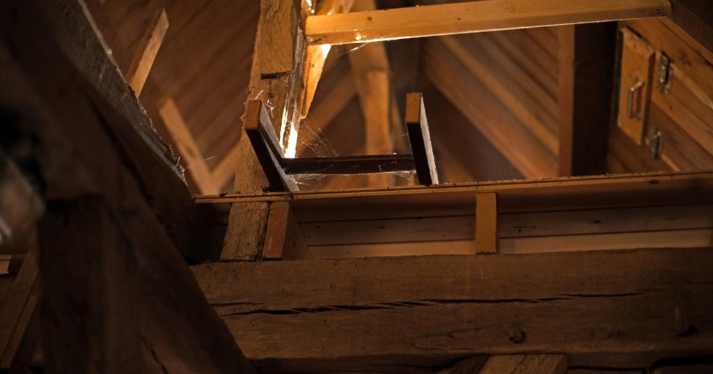 Sunlight leaking into attic space causing roof leak