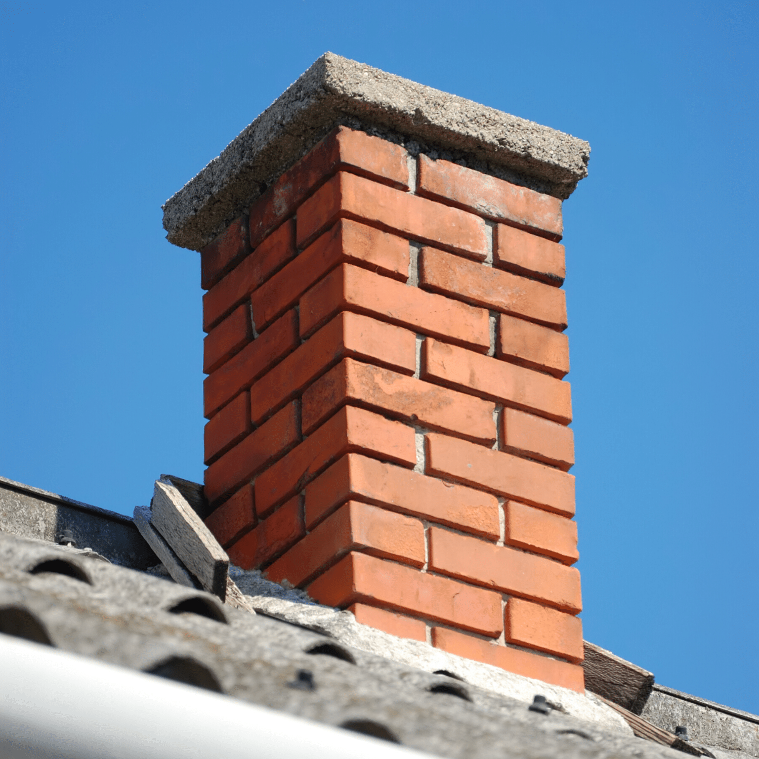 Masonry chimney repair on a Westchester County, NY home