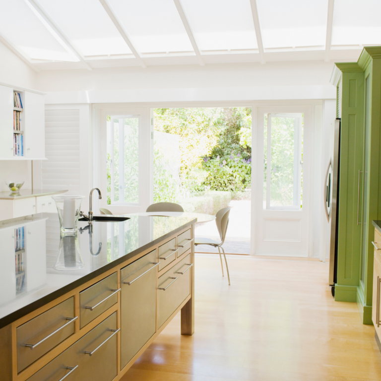 Westchester County, NY kitchen after skylight installation of two solar powered skylights