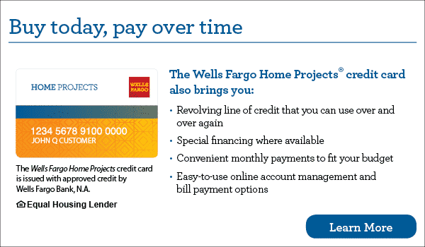 Finance your new roof or construction project with Wells Fargo