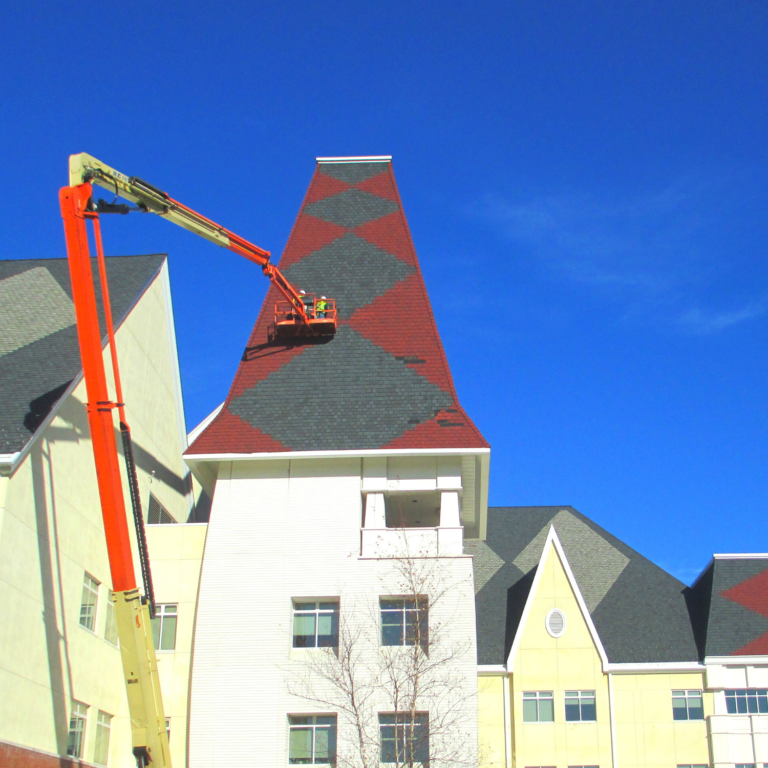 Commercial roof repair on a Westchester County, NY asphalt roof on a hospital