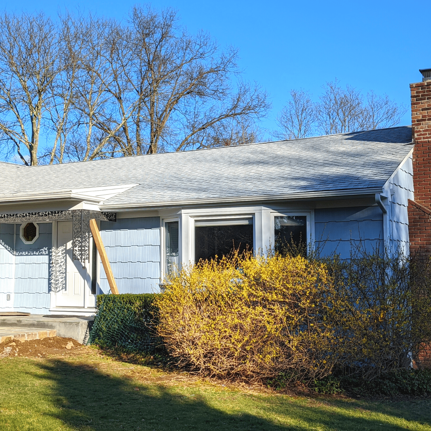 Asphalt roof installation financed with a home construction loan