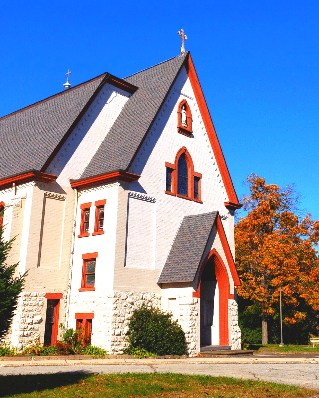 Franciscan Sisters of Peekskill asphalt roof replacement with dark gray shingles