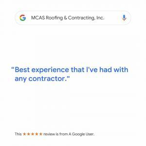 Roofer Reviews MCAS Roofing & Contracting Inc. 1