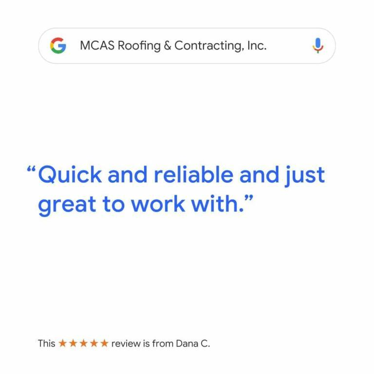 Roofer Reviews MCAS Roofing & Contracting Inc. 2